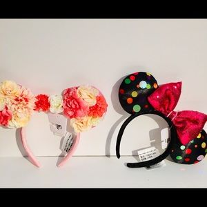 Disney Parks set of 2 Minnie Ears headband